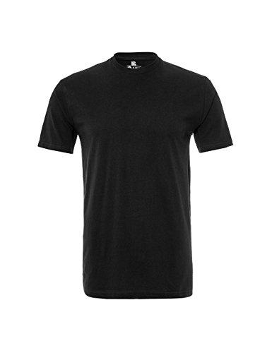 Lower East Herren T-Shirt mit Rundhalsausschnitt, 5er Pack Schwarz