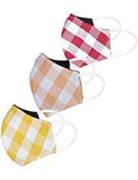 Diverse Cotton Unisex Face Mask – Multicolor, Free Size, Pack of 3