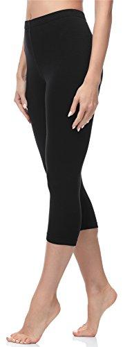 Merry Style Damen Leggings 3/4 MS10-144 (Schwarz, XXL (Herstellergröße: 44))