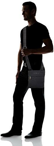 Tommy Hilfiger Essential Flat Crossover, Borse Uomo Nero (Black)