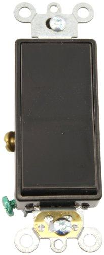 Leviton Decora Plus Rocker 1pol. AC leise Schalter, Commercial Grade, selbst Erdung, 5691-2E -