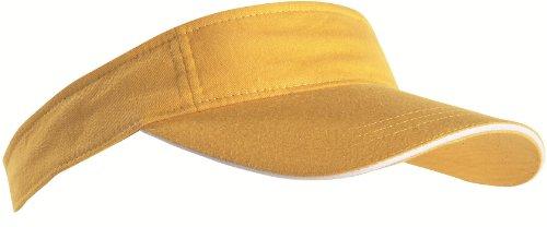 Sport Sun Visor mit kontrastfarbenem Sandwich in 12 Farben für Golf, Tennis, Angeln von notrash2003® (Gelb-Weiss) Weiße Tennis Caps
