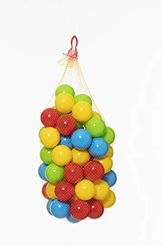 Dohany 457 Bunte Bälle für Bällebad 6,5 cm Babybälle Plastikbälle Baby Spielbälle 60 Stück im Netz, Für Kinder ab 1,5 Jahren