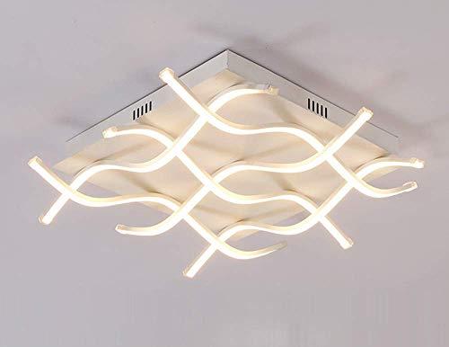LED-Deckenleuchte Moderne, nicht dimmbare Ausstattung Küche Acryl Chrom Einbauleuchte Flush 6 Streifen Tube Style Leuchte für Wohnzimmer Schlafzimmer Badezimmer Badezimmer, 3 Lichtfarben zur Auswahl, -