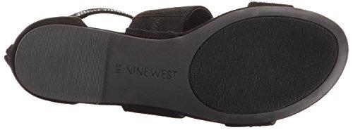 Nine West Damen Nwdevar2 Riemchensandalen Schwarz (Black/ Black)