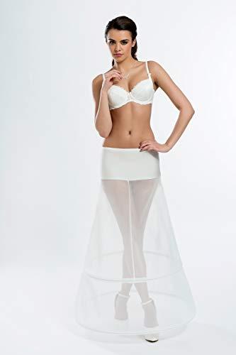 A Linie Reifrock Neu 2 Ringe 2 Reifen A-Linie Ivory Creme 220 cm Umfang H7-220 Brautkleid Unterrock Petticoat (L)