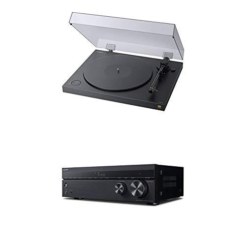 Sony PS-HX500 Plattenspieler (High-Resolution-Audio-Ripping-Funktion, Aufnahme Double-DSD Format) Schwarz + AV Receiver (7.2-Kanal, Dolby Atmos/DTS:X, 4K HDR, Verbindung über HDMI) Schwarz