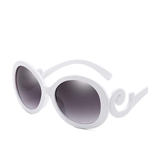 YUHANGH Ovale Sonnenbrille Frauen Vintage Brillen Elegante Damen Sonnenbrille Weibliche Sonnenbrille De Sol Schwarz Weiß Rot