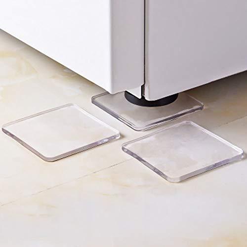4 teile/satz waschmaschine kühlschrank kühlschrank anti-vibrations füße pad anti-shock rutschfeste matte, silikon pad tragbare anti-vibrations rutschfeste matten
