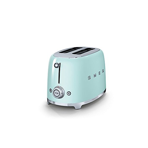 Smeg TSF01PGUK KLF03PGUK   50's Retro Style Aesthetic   2 Slice Toaster and Kettle Set in Pastel Green