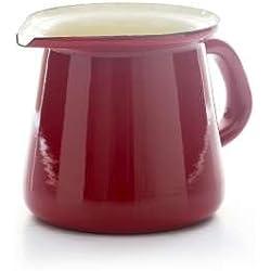 Vintage Home–pequeña calidad esmaltada jarra de leche/crema–Vintage Rojo–400ml