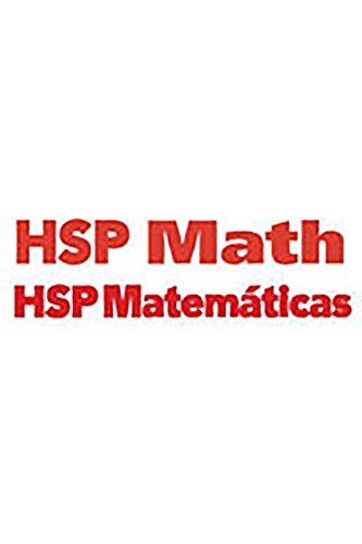 Hsp Matemáticas (C) 2009: Intensive Intervention Kit Student Skill Pack Grade 4 2009 (Harcourt School Publishers Spanish Math)