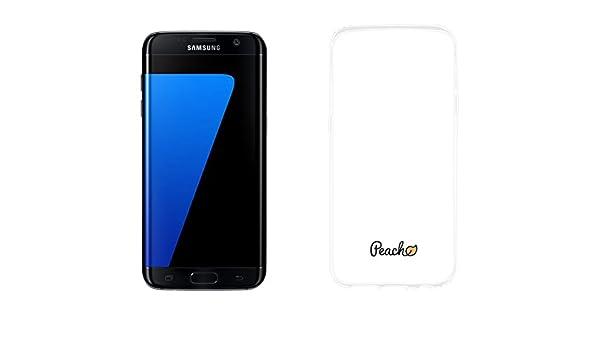 Samsung Galaxy S7 Edge 32 Go Noir Avec PEACH Coque Transparent Amazonfr High Tech