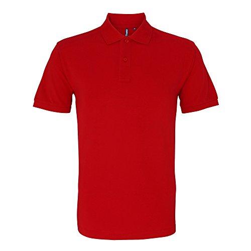 Asquith & Fox Herren Polo-Shirt, Kurzarm Kirschrot
