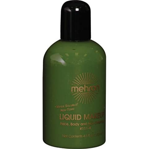 Mehron Liquid Makeup 4.5 oz Green by Mehron