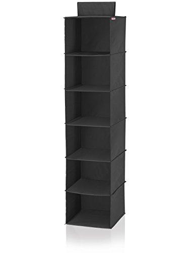 Leifheit 80003 Estantería Colgante, Tela, Negro, 31 x 32 x 3.5 cm