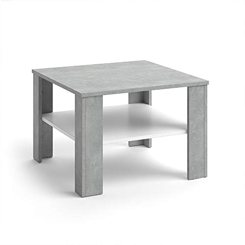 Vicco Table Basse Homer Table de Salon béton Blanc Table de canapé Table d'appoint