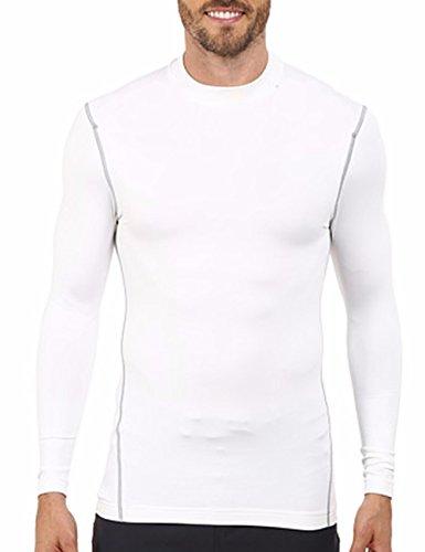 Herren Yoga Fitness T-Shirt Tech T Sportkleidung Langarm Schwarz Weiß S M L XL