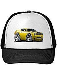 funny-dodge-challenger-yellow-car-trucker-hat