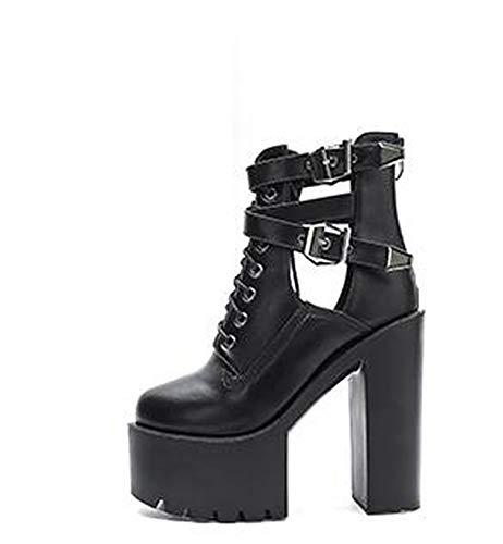 Botas de Mujer de 15 cm con Hebilla de Plataforma