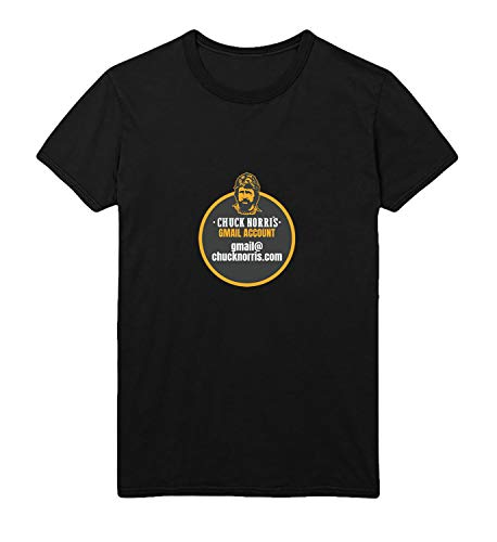 GlamourLab Chuck Norris GMail Account Funny Joke Quote_R4993 para Hombres Hombre For Shirt T-Shirt Tshirt T Shirt Gift For Him Her Cute Novelty - M White Men's
