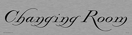 Preisvergleich Produktbild Viking Schilder dv1143-l26-ms Umkleideraum Türschild,  Herr,  Swish Schriftart,  1 mm Edelstahl,  225 mm H x 60 mm w