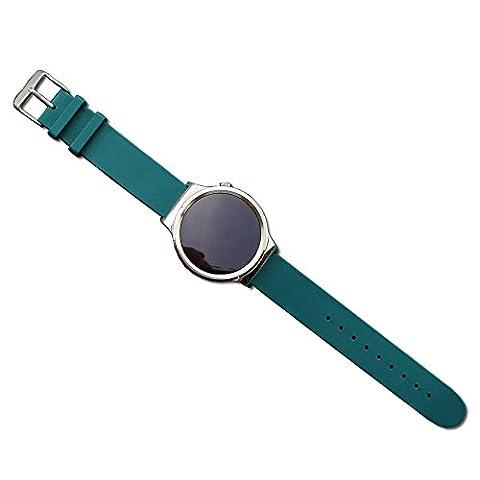 18mm Withings Bande Pinhen bracelets de montres en Acier inoxydable Milanais Milanese avec le Fermoir Magnétique Bracelet de montre Stainless Steel Adaptateur (Silicone Green)
