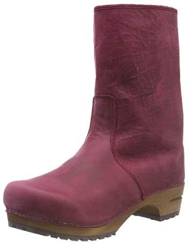 Sanita Damen Wood juki Boot Schlupfstiefel, Rot (Dark Red 4), 36 EU