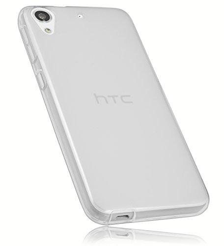 mumbi Schutzhülle HTC Desire 626G Hülle transparent Weiss