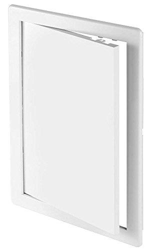 Revisionsklappe weiß 15 x 15 cm ABS Kunststoff 150 x 150 mm Revisionstür Revision Wartungstür Wartung Reinigungsklappe Wartungsöffnung DT 10