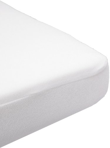 Babysun Nursery Protège Matelas Éponge Imperméabilisé P U 100% Coton Blanc 40 x 80 cm