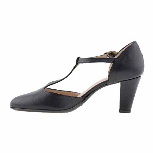 chaussures à talons en cuir Noir