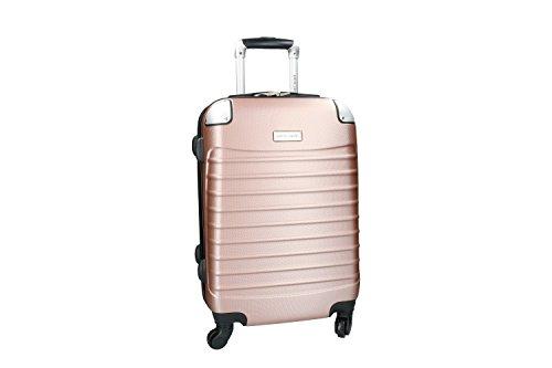 Maleta rígida PIERRE CARDIN rosa mini equipaje de mano ryanair 4 ruedas