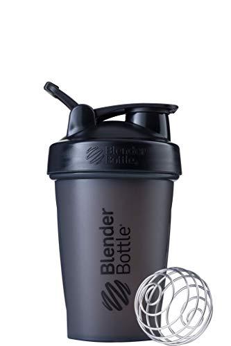 BlenderBottle Classic Loop  - Botella Mezcladora de Batidos de proteínas con batidor Blenderball , Negro, 590 ml