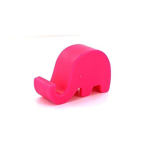 Cdet Mini Soporte del Soporte del sostenedor de Smartphone del Elefante para la Nota 2 3 de la Galaxia del iPhone 5G 5S 4 HTC Rojo