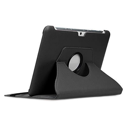 doupi Deluxe Schutzhülle für Samsung Galaxy Tab 2 (10,1 Zoll), Smart Case Sleep/Wake Funktion 360 Grad drehbar Schutz Hülle Ständer Cover Tasche, schwarz