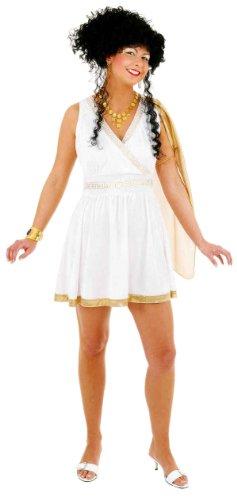 Athena-Kostüm: kurzes Kleid für griechische Göttinnen, Erwachsenen-Größe:40/42 (Griechische Athena-kostüme Göttin)