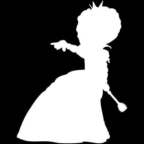 haotong11 11,7 cm * 15,1 cm Alice Im Wunderland Königin Der Herzen Vinyl Aufkleber Abziehbilder Schwarz/Silber 5 (Königin Der Herzen Alice)