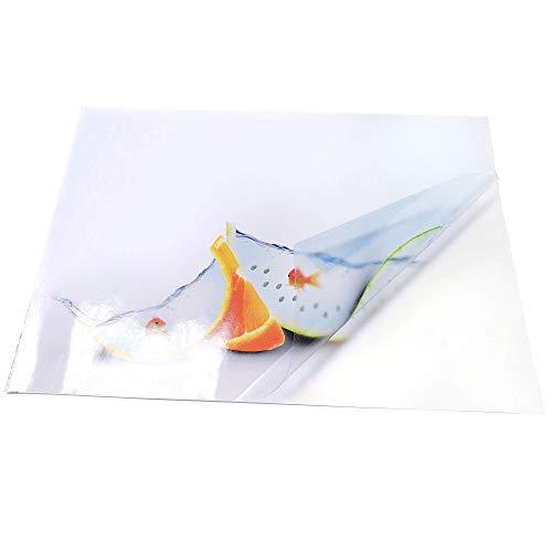 20fogli A4in bianco/trasparenti in vinile lucido autoadesivo, per stampa a inchiostro -crea i tuoi adesivi personalizzati, etichette, cartellini e altro
