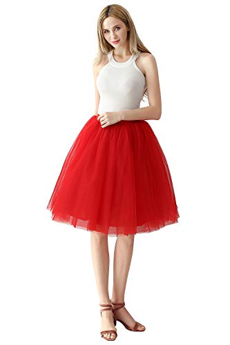 Prinzessin Tütü Rock tüllrock Unterrock für Hochzeit OneSize Rot