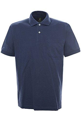 Kitaro Herren Shirt Poloshirt Basic Piqué Dunkelblau