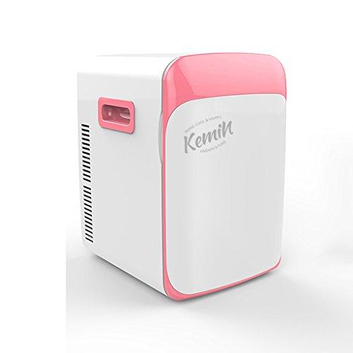 Sunjun Mini Kühlschrank 10L Einkernige Mute Reefer Kühler Box (Home Office und Auto verwenden) ( Farbe : Pink )