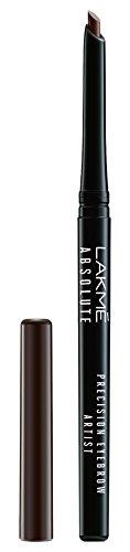 Lakme Absolute Precision Eye Artist Eyebrow Pencil, Dark Brown, 0.35g