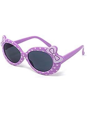 Colore viola bambini ragazzi ragazze elegante stile carino Designer occhiali da sole di alta qualità con un arco...