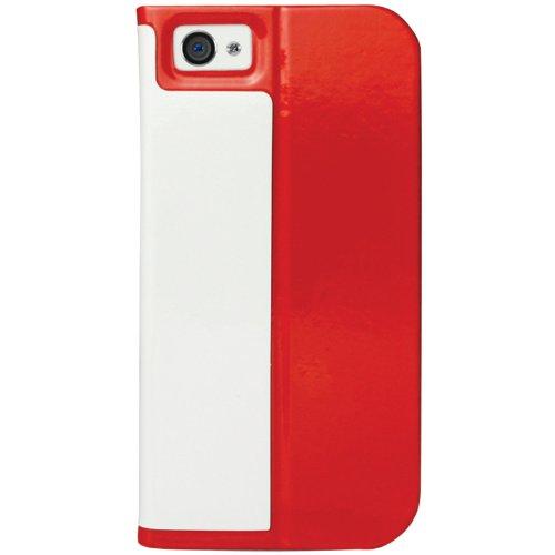 Macally Schutzhülle für iPhone 5 (Leder, mit Standfunktion) 1 Stück, rot (Iphone 5 Macally)