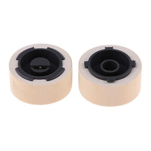 Almencla 1 Paar Pickup Feed Roller Set 40X4308 Einzugswalze für Lexmark Optra T650 / T652 / T654 - Feed Pickup Roller