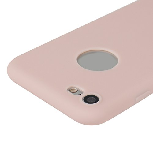 iPhone 7 Hülle Dünn Silikon, Asnlove 2 Pack Handy Schutzhülle für Apple iPhone 7 Hülle TPU Silikon Backcover Case Handytasche Einfarbig Telefon-Kasten Tasche Schutz Cover Design Rose Color-12