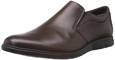 Clarks Men's Denner Step Walnut Leather Formal Flats - 12 UK