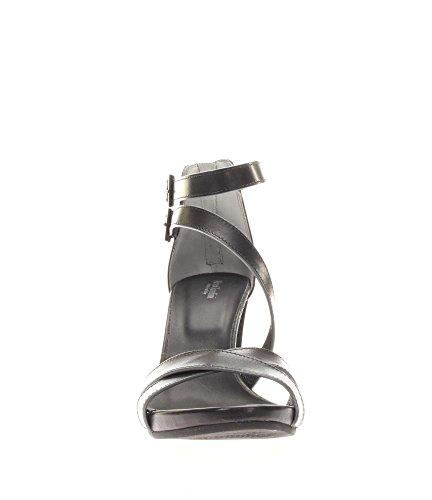 Nero Giardini Donna Sandali tacco P717580D-100 Sandalo fasce legato caviglia Nero