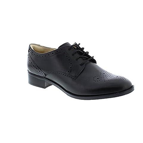 Clarks Habillé Femme Chaussures Netley Rose En Cuir Noir Taille